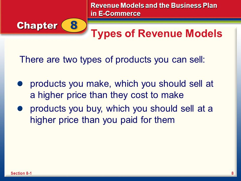 Revenue Models and the Business Plan in E-Commerce What Is a Business Plan.