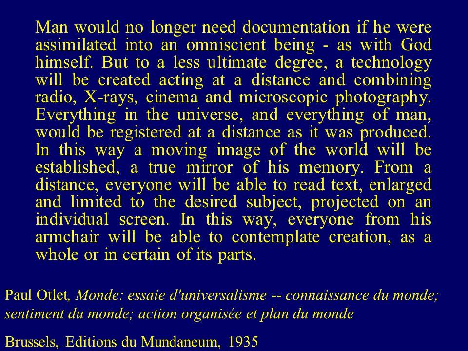 Paul Otlet, La machine a penser le monde, 1943