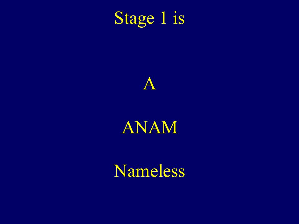 Stage 1 is A ANAM Nameless
