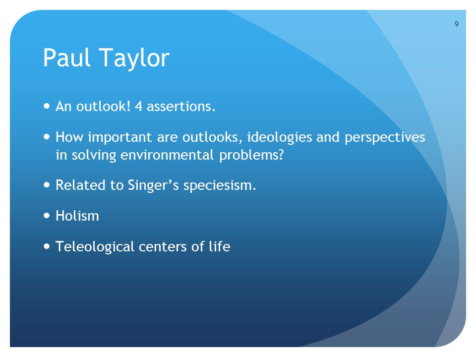 9 Paul Taylor An outlook. 4 assertions.