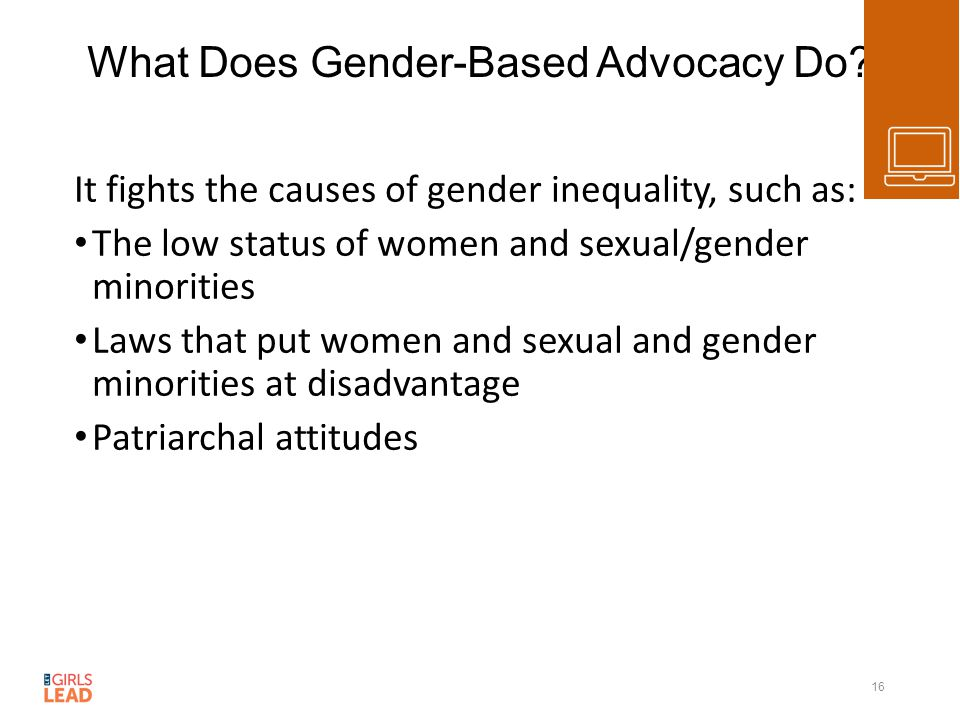 What Does Gender-Based Advocacy Do.