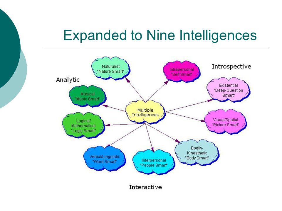 Expanded to Nine Intelligences