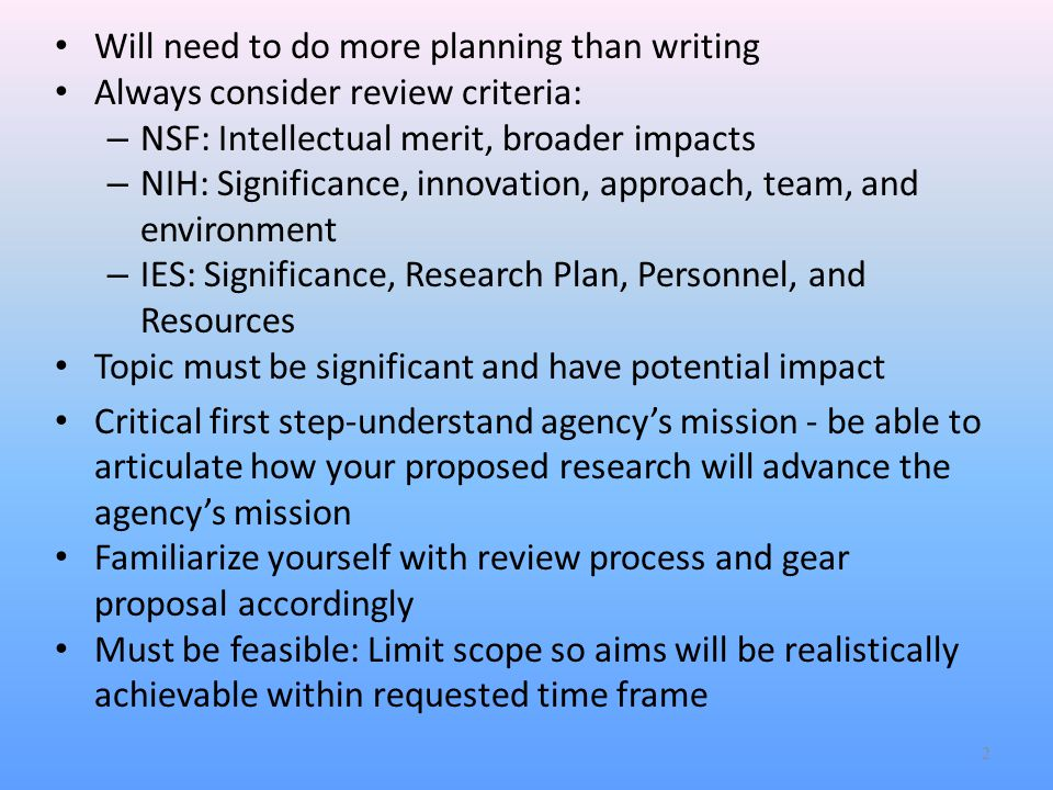 Specific Aims: Paragraph 4 Innovation –Make case for why research is innovative.