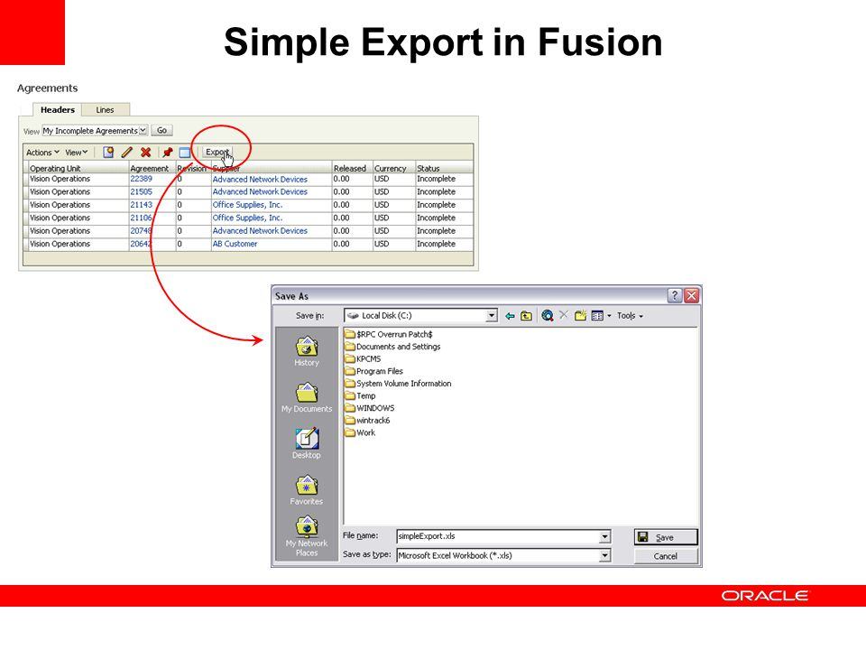 Simple Export in Fusion