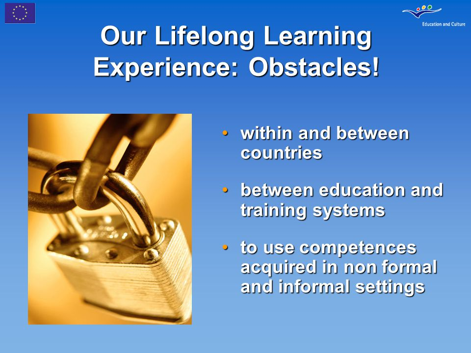 Our Lifelong Learning Experience: Obstacles! within and between countrieswithin and between countries between education and training systemsbetween ed