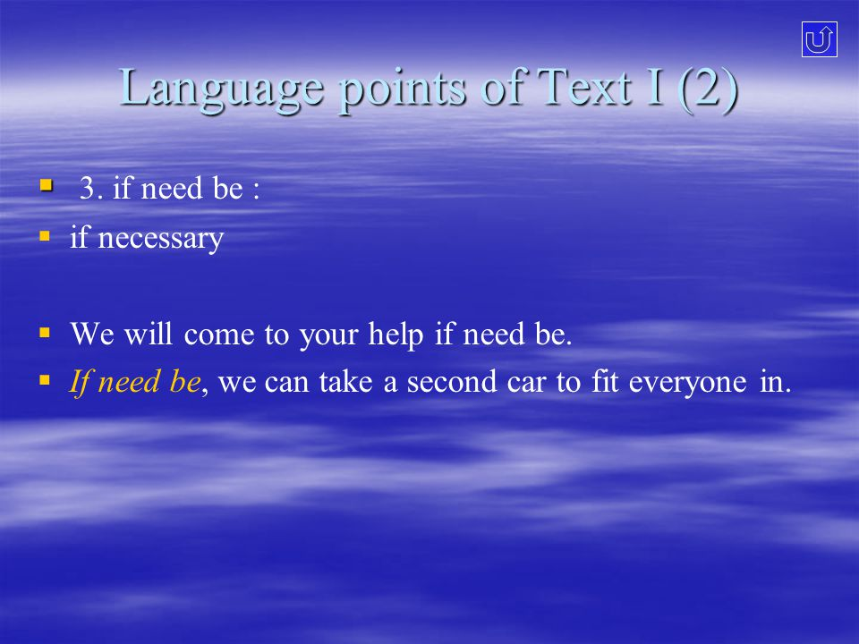 Language points of Text I (2)   3.