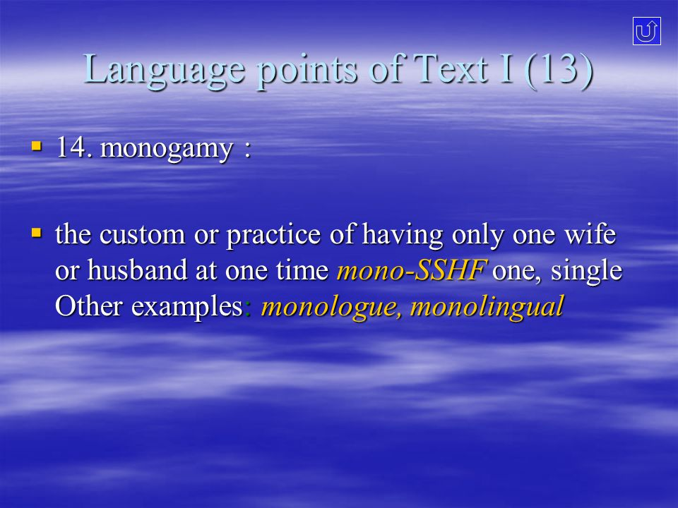 Language points of Text I (13)  14.