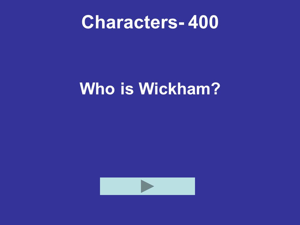 Characters- 400 Who is Wickham?