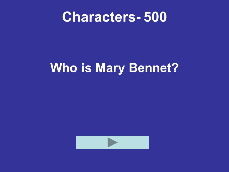 Characters- 500 Who is Mary Bennet?