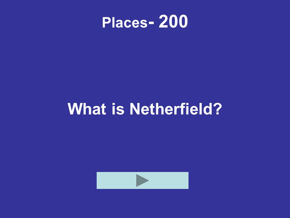 Places - 200 What is Netherfield?