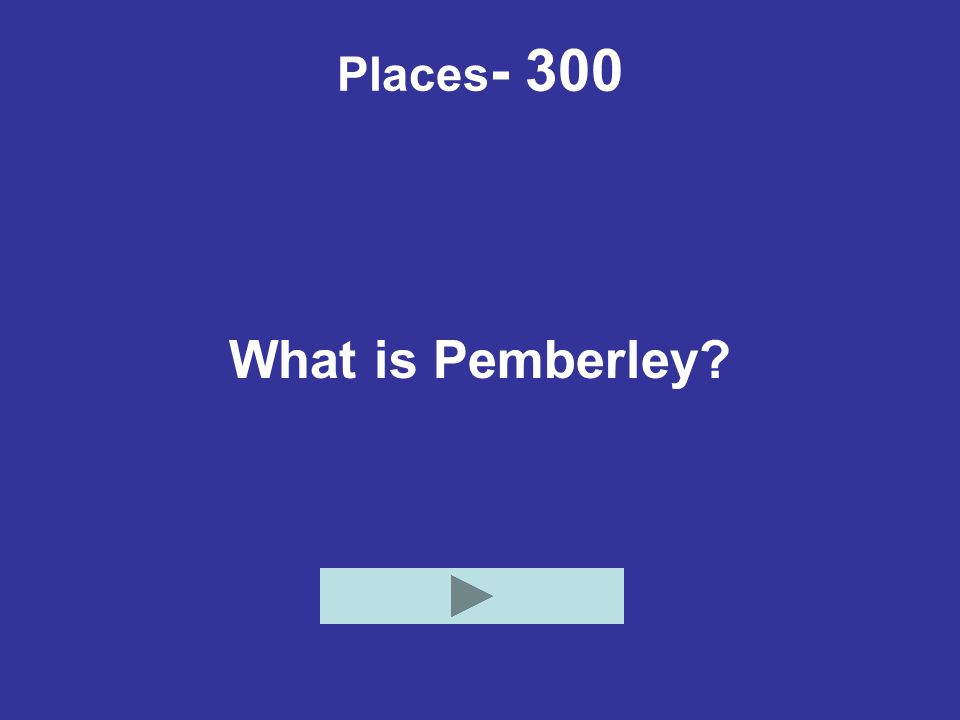 Places - 300 What is Pemberley?