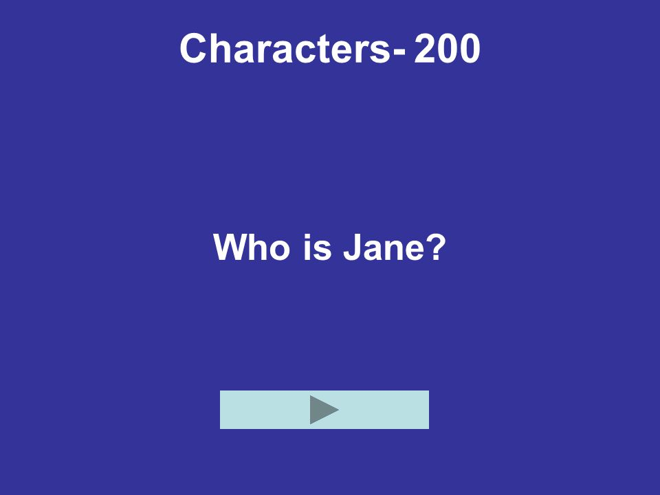 Characters- 200 Who is Jane?