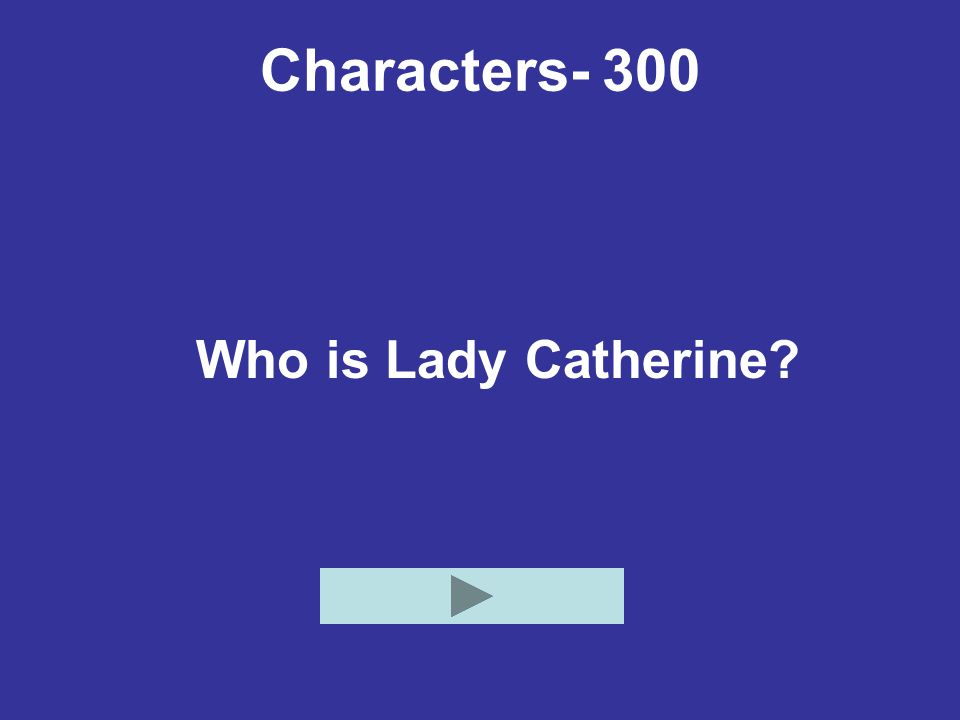 Characters- 300 Who is Lady Catherine?