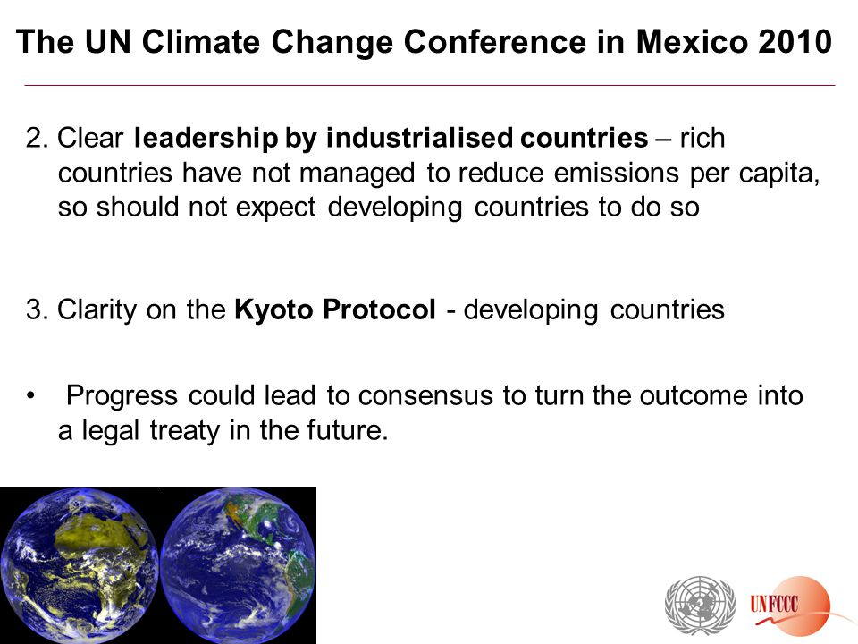 The UN Climate Change Conference in Mexico