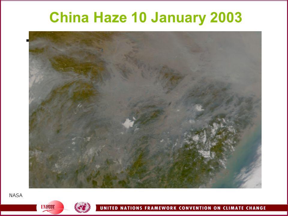 China Haze 10 January 2003 NASA