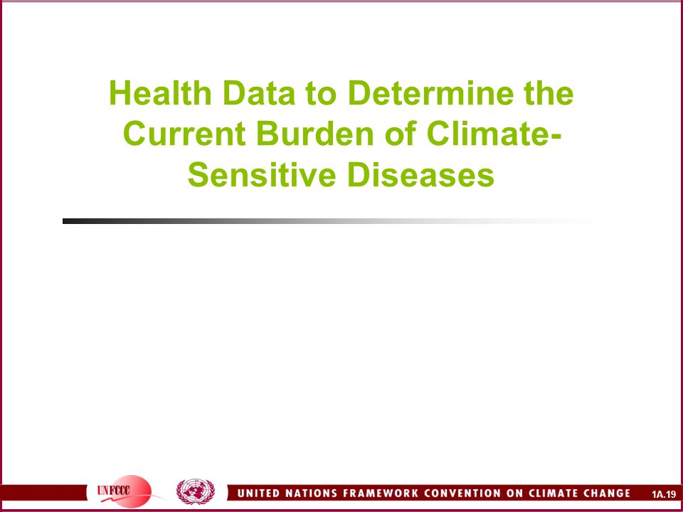 1A.19 Health Data to Determine the Current Burden of Climate- Sensitive Diseases