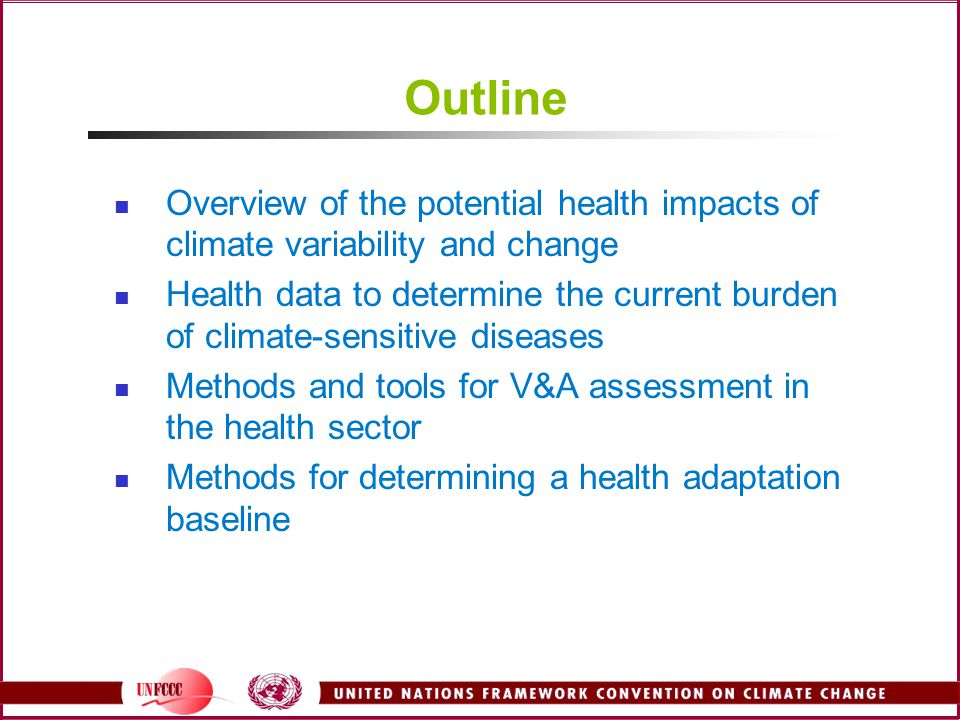 Current and Future Adaptation Options What is being done now to reduce the burden of disease.