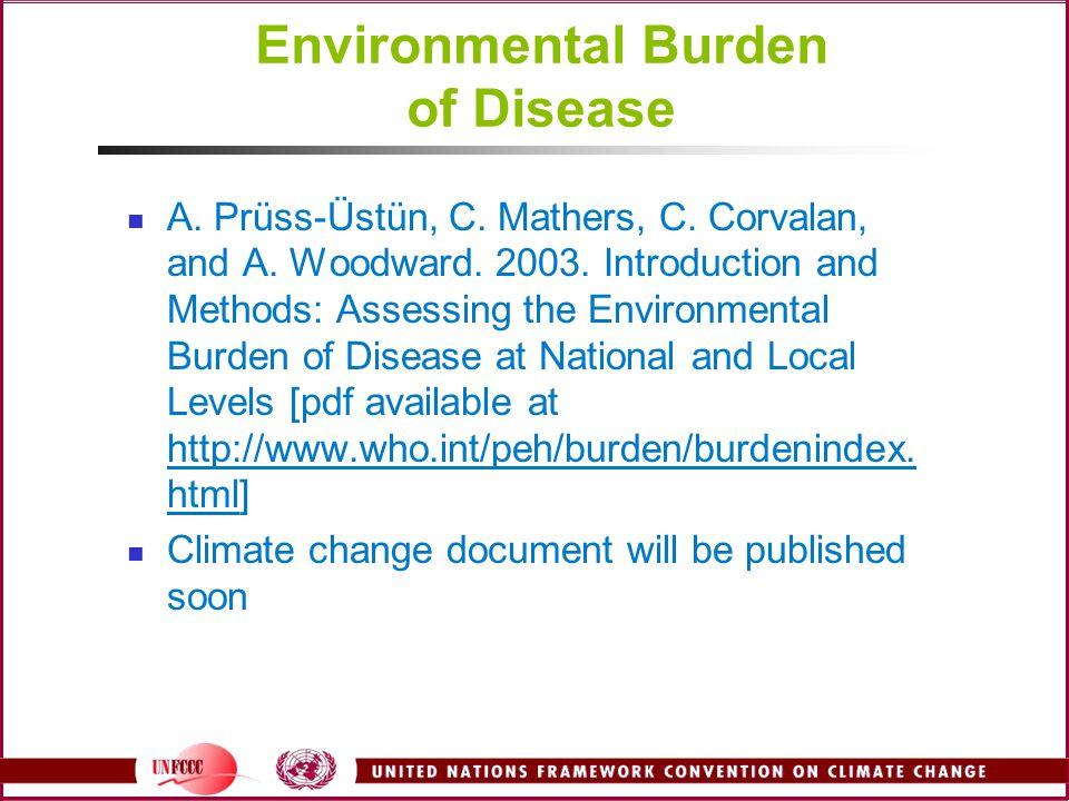 Environmental Burden of Disease A. Prüss-Üstün, C.
