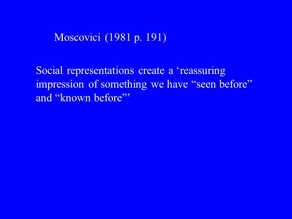 Moscovici (1981 p.