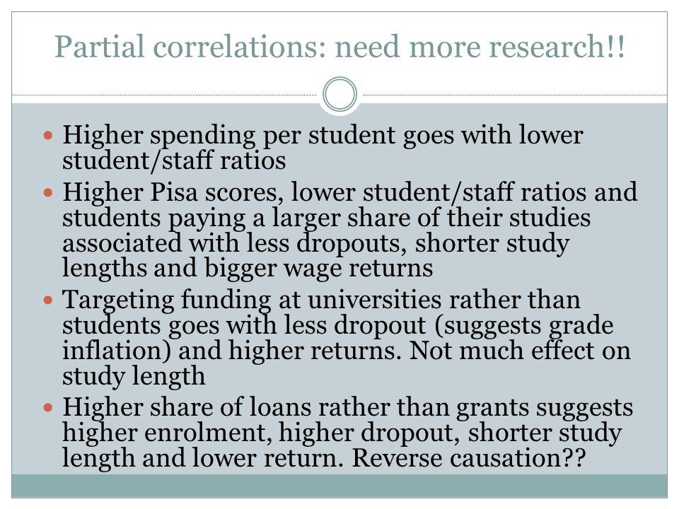 Partial correlations: need more research!.
