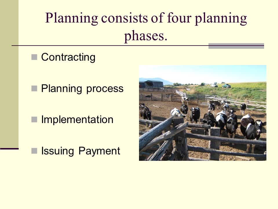 Planning consists of four planning phases.