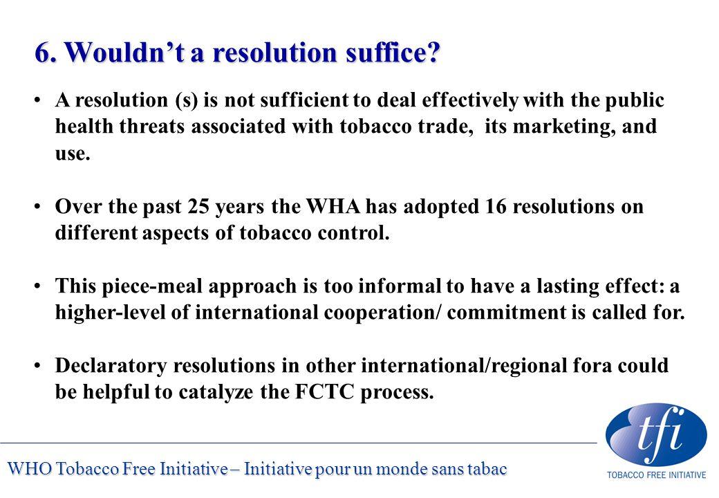 WHO Tobacco Free Initiative – Initiative pour un monde sans tabac 6.