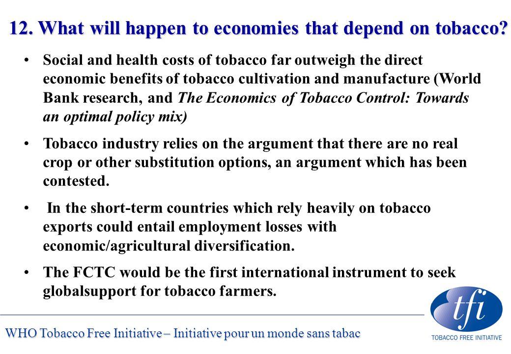 WHO Tobacco Free Initiative – Initiative pour un monde sans tabac 12.