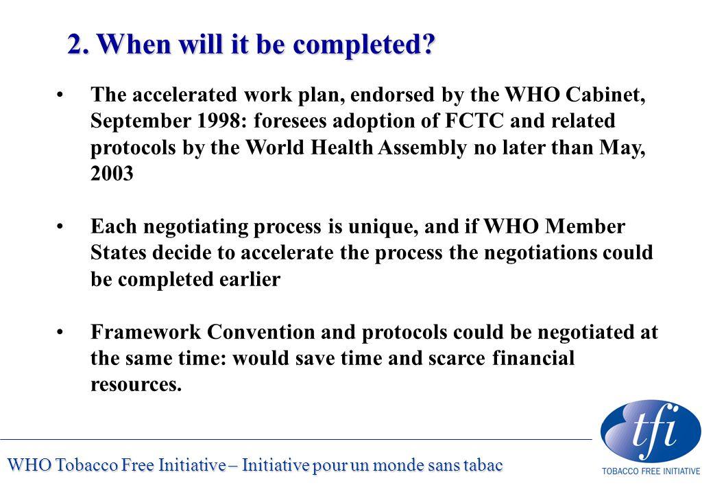 WHO Tobacco Free Initiative – Initiative pour un monde sans tabac 2.