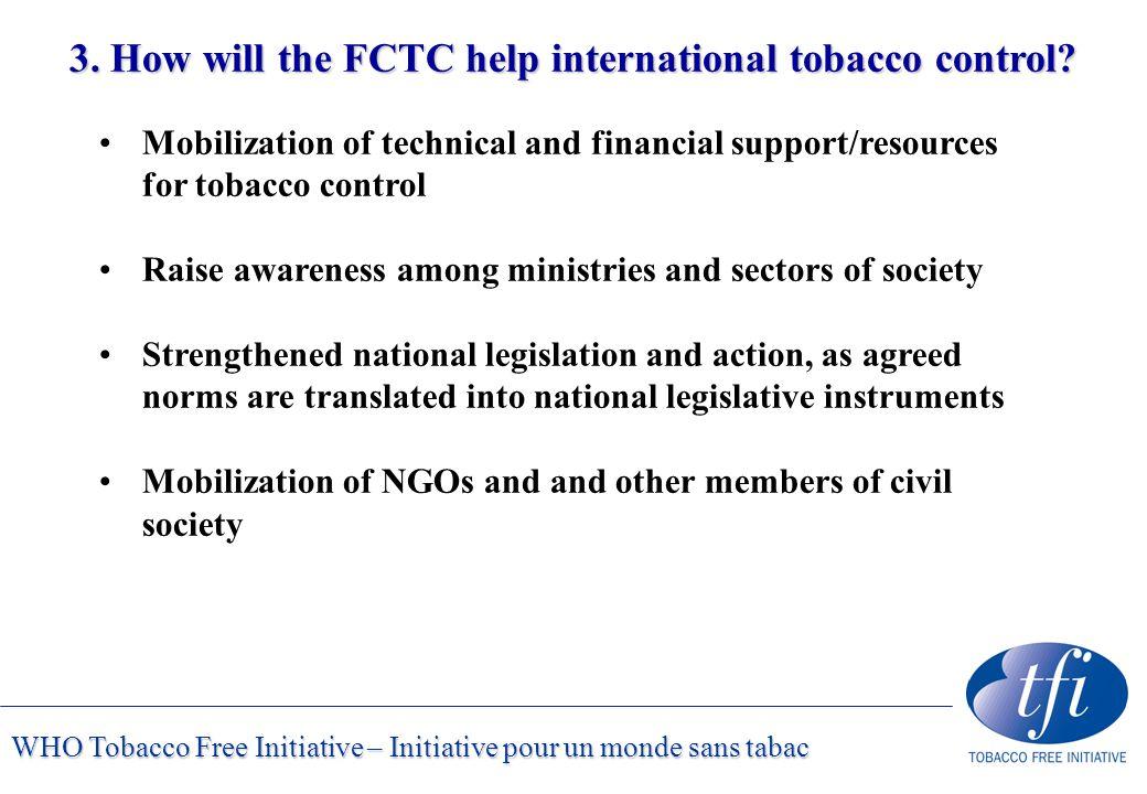 WHO Tobacco Free Initiative – Initiative pour un monde sans tabac 3.