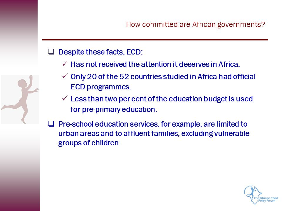 How committed are African governments.How much is budgeted for education?...