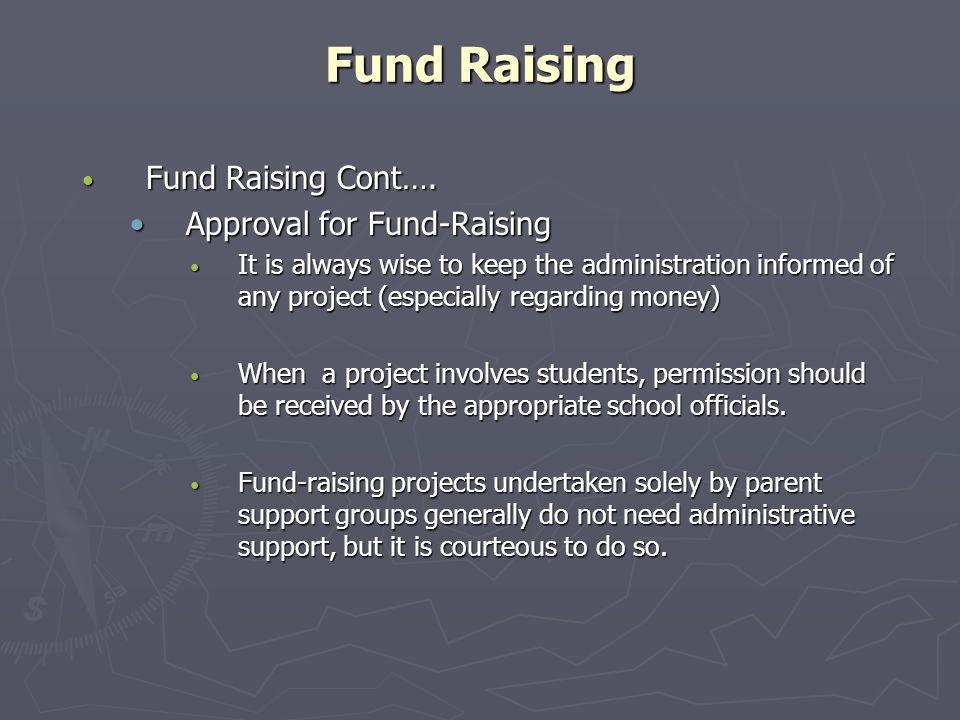 Fund Raising Fund Raising Cont….Fund Raising Cont….