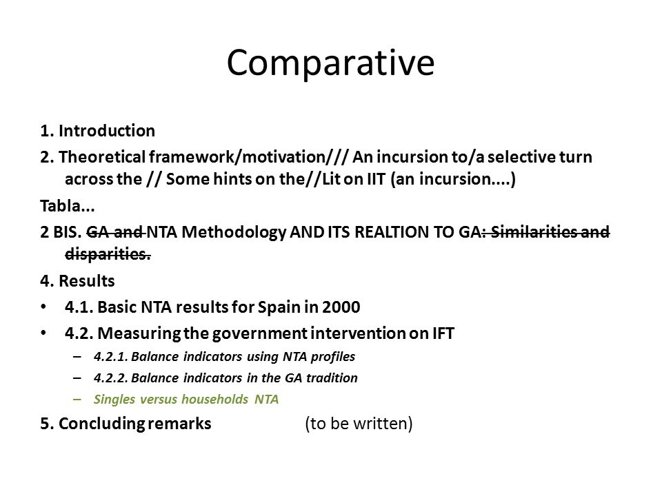 Comparative 1. Introduction 2.