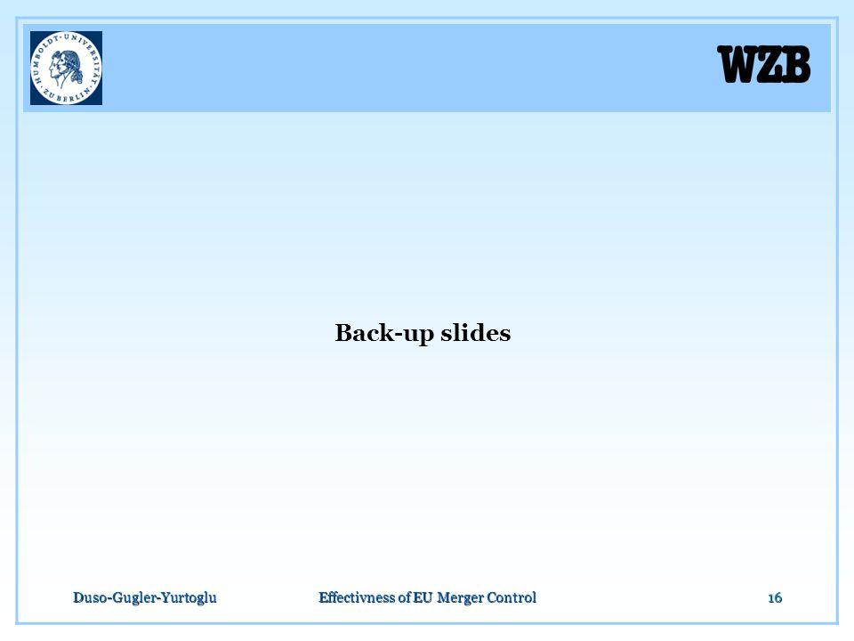 Duso-Gugler-YurtogluEffectivness of EU Merger Control16 Back-up slides