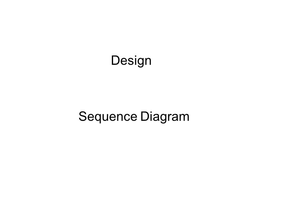 Design Sequence Diagram