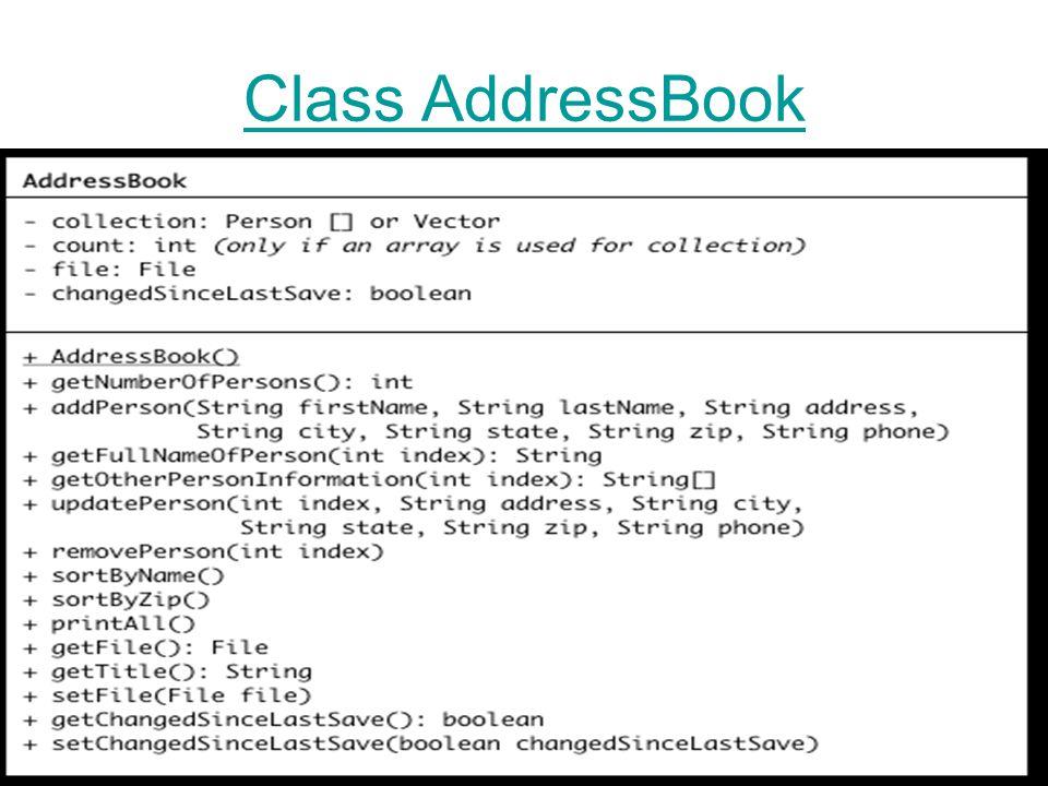 Class AddressBook