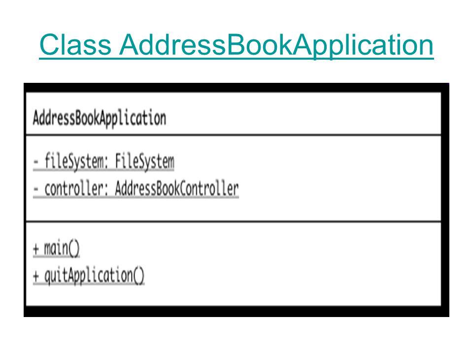 Class AddressBookApplication