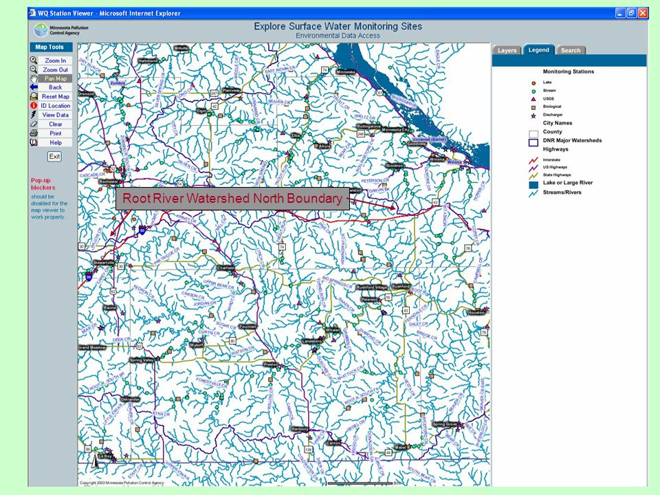 Root River Watershed North Boundary