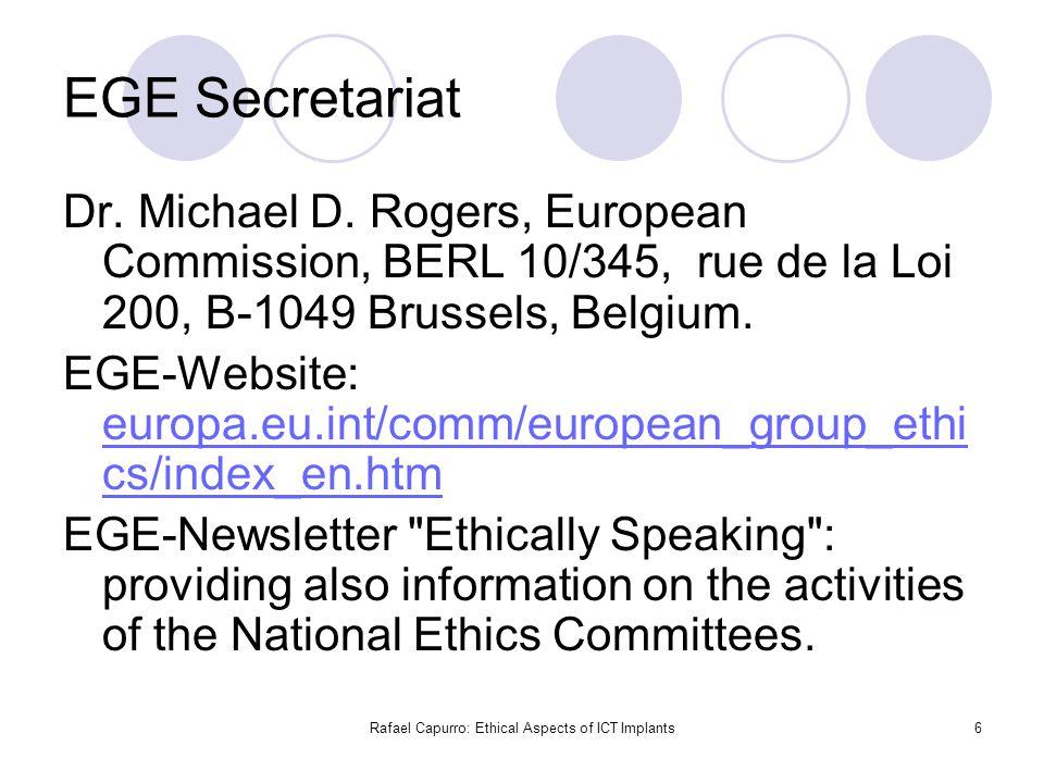 6 EGE Secretariat Dr. Michael D.