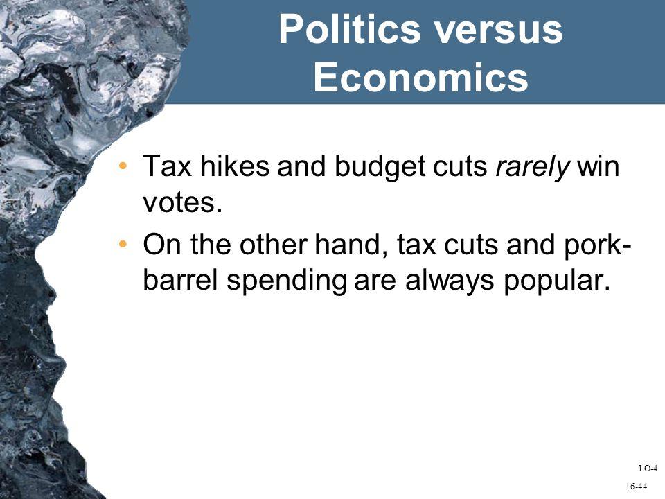 16-44 Politics versus Economics Tax hikes and budget cuts rarely win votes.