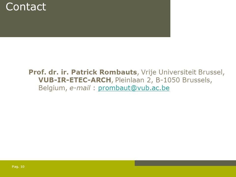 Pag. 10 Contact Prof. dr. ir.