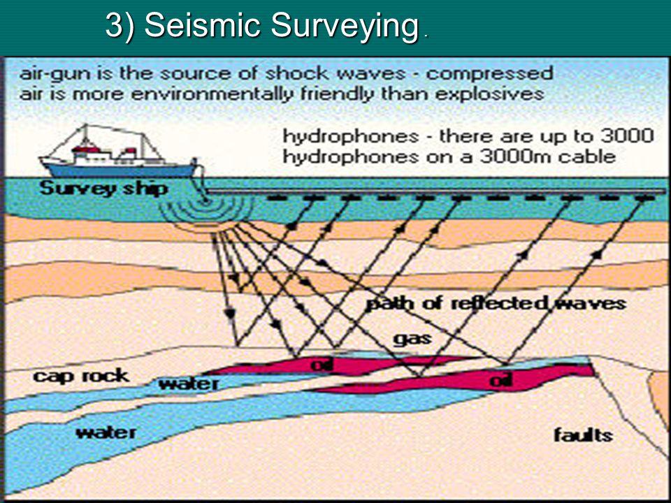 3) Seismic Surveying.