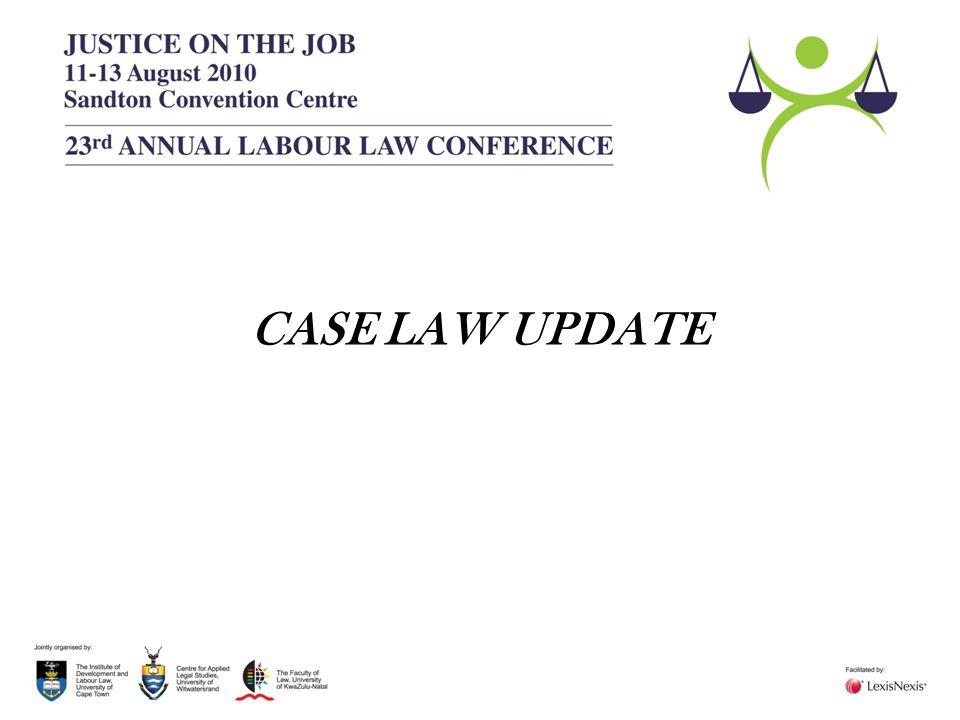 CASE LAW UPDATE