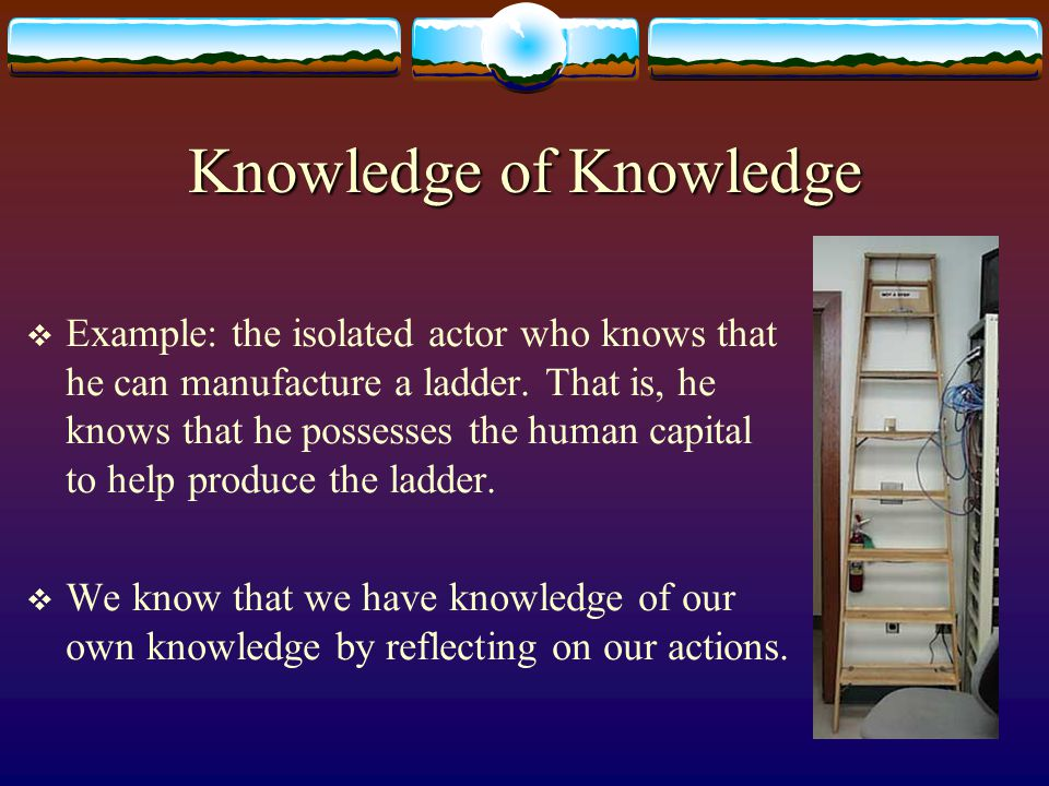 Technical Knowledge  We can classify technical knowledge into three types:  1.