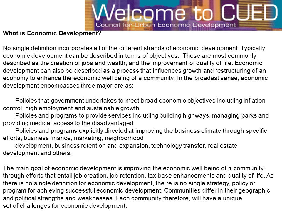 What is Economic Development.