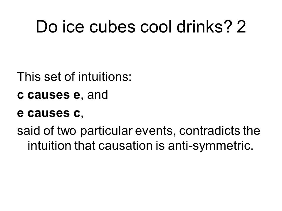 Do ice cubes cool drinks.