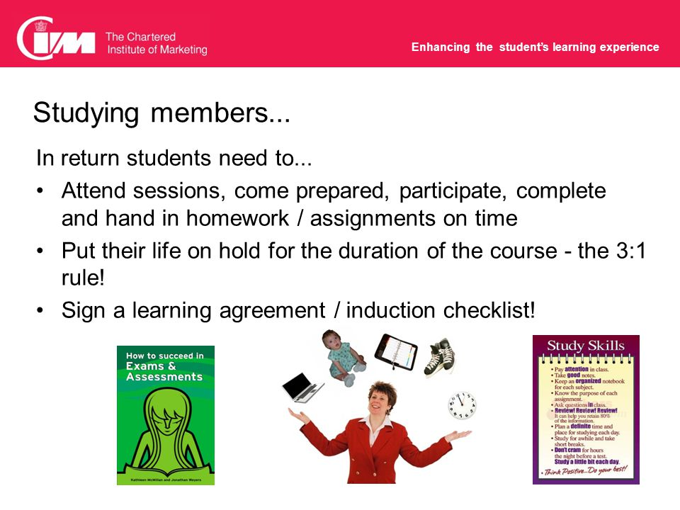 Enhancing the student's learning experience Ideas and suggestions from the last NTTD...
