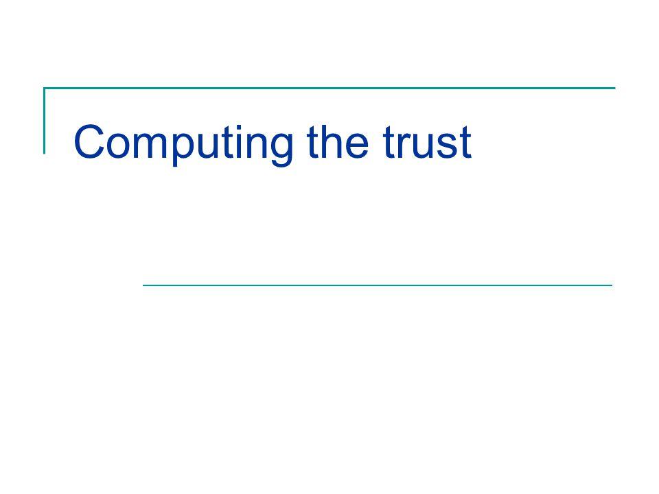 Computing the trust