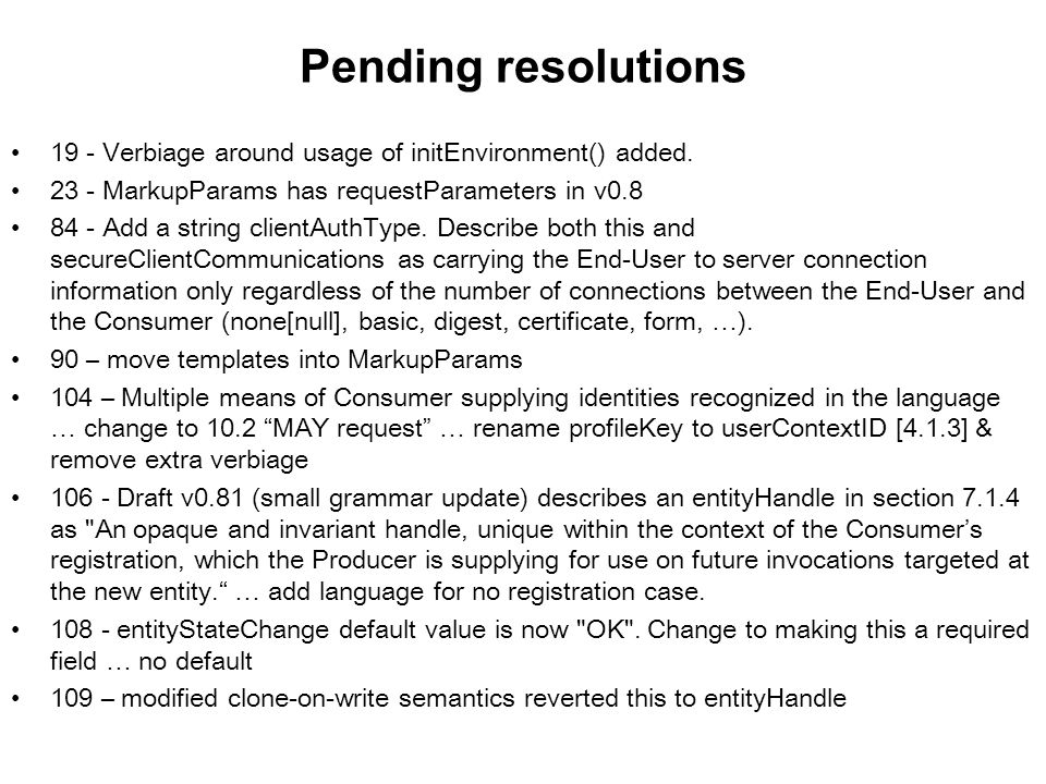 Pending resolutions 19 - Verbiage around usage of initEnvironment() added.