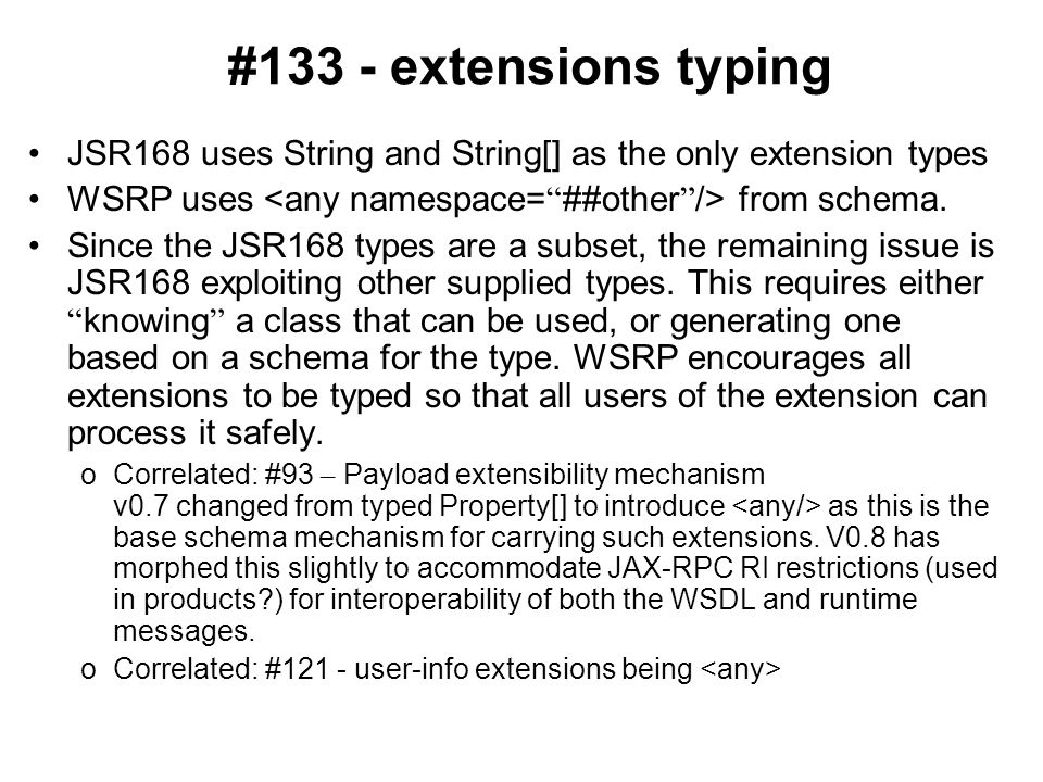 #131- wsia:requestParameters should encode '&' and '=' Current language: The value replacing wsia:requestParameters should follow the pattern of a URL query string (properly encoded name/value pairs separated by the '&' character) and be strictly encoded as it likely will be the value of a parameter in the query string of the full URL. - change 'doubly' to 'strictly'