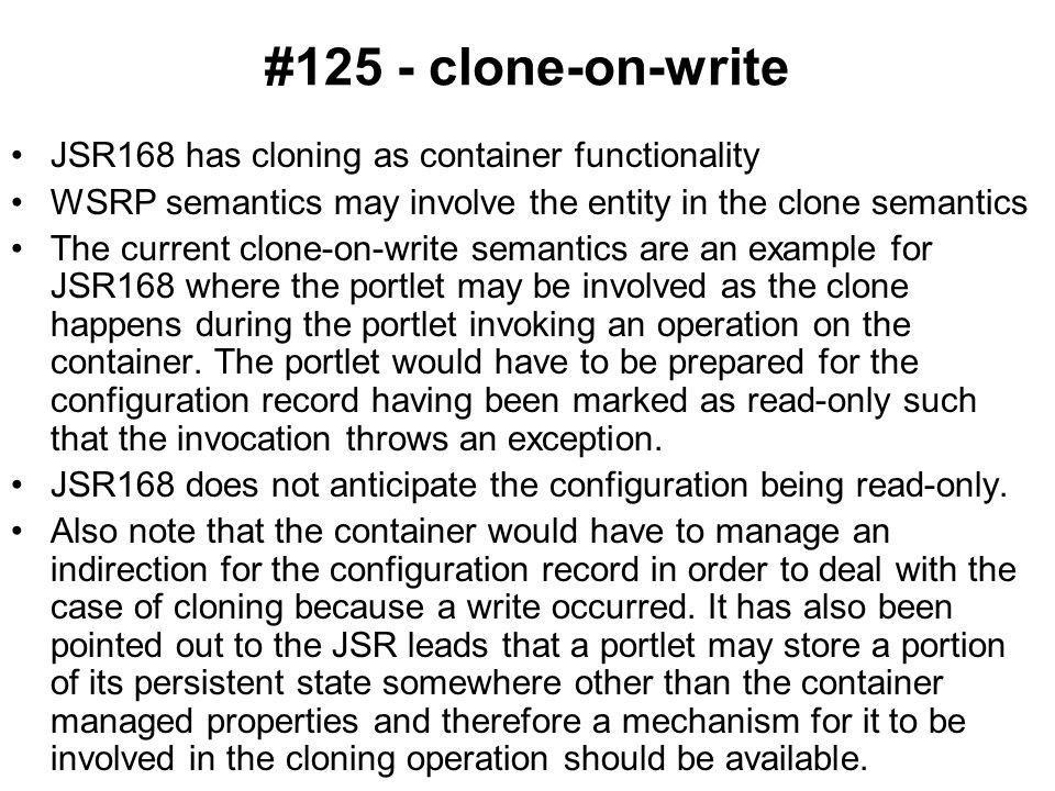 #127 - setting properties not defined in type definition JSR168 allows portlets to set properties that do not currently exist WSRP requires Consumers to only set properties that are described.